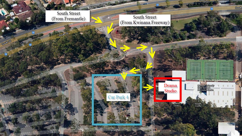 Drama Studio Location Map - Murdoch - Acting Classes In Perth
