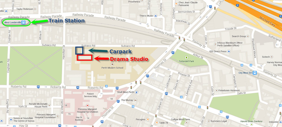 Drama Studio Location Map - Perth Modern -  - Acting Classes In Perth