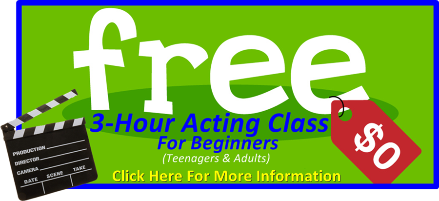 Free 3 hour Acting class for beginners
