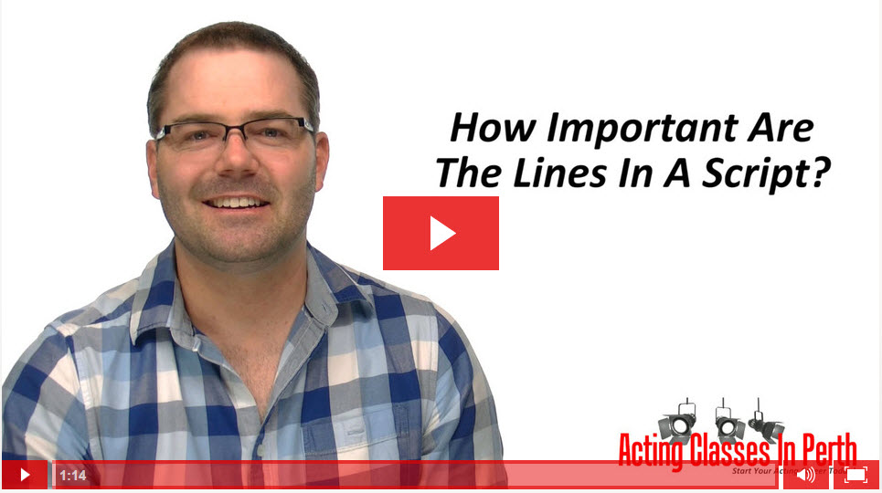 FREE Online Acting Classes & Tips: How Important Are The Lines In A Script